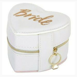 Jade & Deer Bride Heart Jewelry Box Organizer